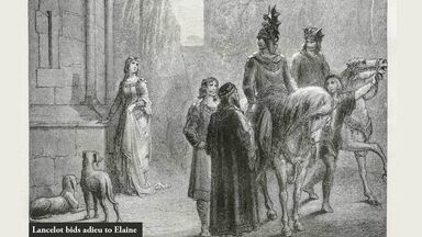 lancelot bids adieu to elaine in king arthur