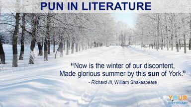 pun example in literature