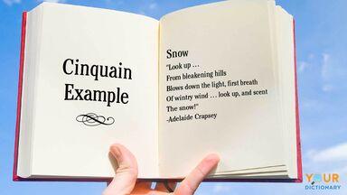 cinquain poem in book