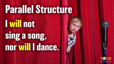 parallel structure example sentence