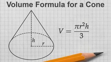 volume formula for a cone