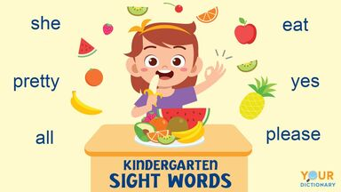 kindergarten sight words examples