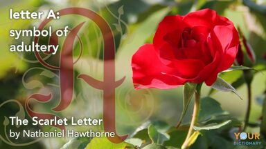 symbolism of The Scarlett Letter A and red rose