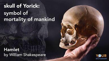 skull of Yorick symbol Hamlet Shakespeare