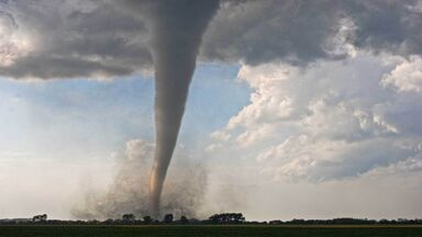 tornado in field in minnesota USA