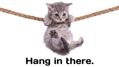 Hang in there positive words