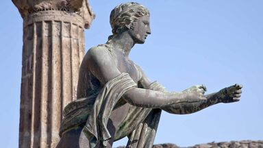 statue of Apollo in Pompeii