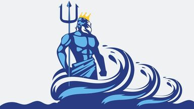 Poseidon facts he wields a trident