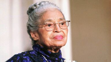 Rosa Parks receives the Congressional Gold Medal, 1999