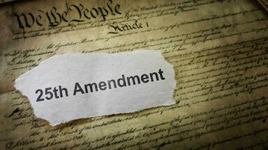 25th Amendment note over the US Constitution