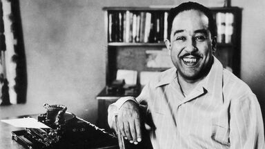 american poet and writer Langston Hughes 1945
