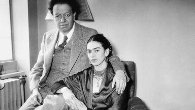 Frida Kahlo and Diego Rivera portrait