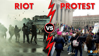 riot vs protest difference example