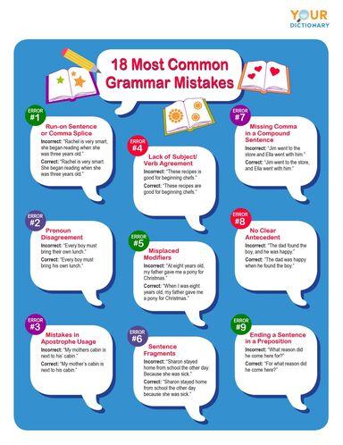 18 most common grammar mistakes printable
