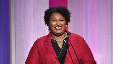 stacey abrams speaking in 2019 in california