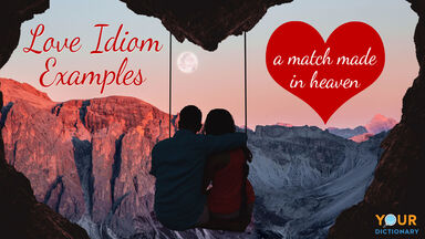 love idioms examples with couple on swing