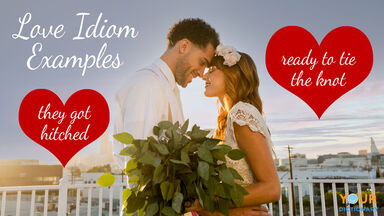 love idioms examples with bride and groom