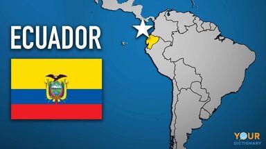 Ecuador map country flag