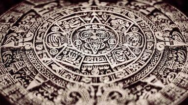 Ancient Aztec calendar coin