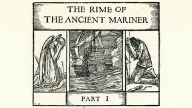 scene from the rime of the ancient mariner
