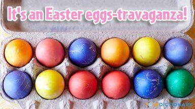 easter pun eggs-travaganza