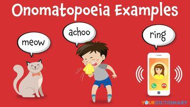 onomatopoeia examples meow achoo ring