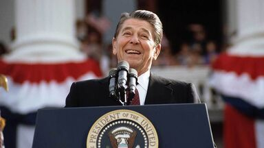 President Ronald Reagan campaigning for second term 1984