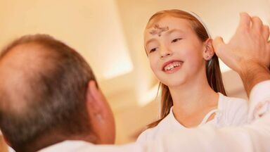 Easter tradition of ash on forehead