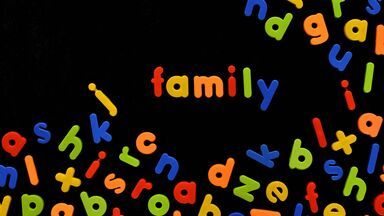 word game using alphabet magnets on board