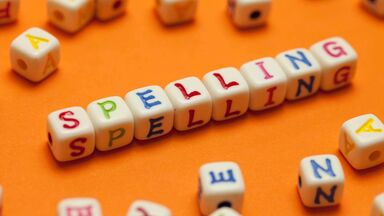 spelling word game with letter pieces