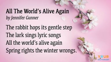 spring poem all the world's alive again