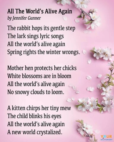 spring poem all the world's alive again full version
