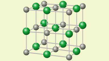sodium chloride NaCl crystal