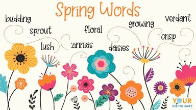 flowers and spring words