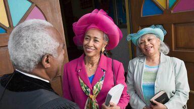 women wearing their Easter bonnets