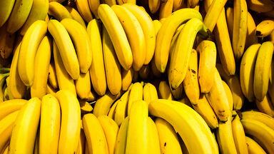 bunch of bananas at market
