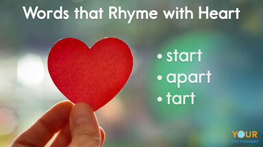 words that rhyme with heart