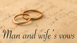 Wedding rings and vows as examples of possessive nouns