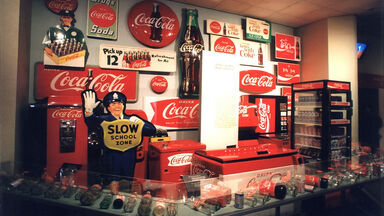 Coca-cola display in museum in Atlanta, Georgia