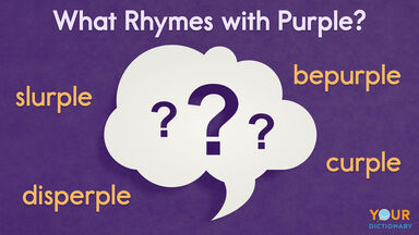what rhymes with purple word examples