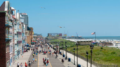 Atlantic City boardwalk elevated view
