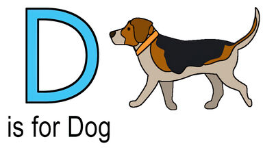d words for kids example of dog