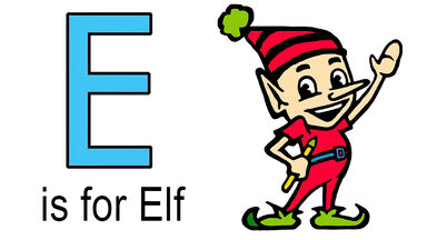 e words for kids example of elf