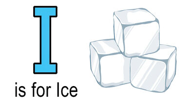 i words for kids example of ice