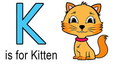 k words for kids example of kitten