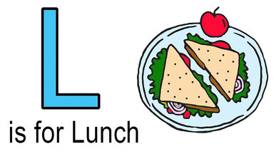 L words for kids example of lunch