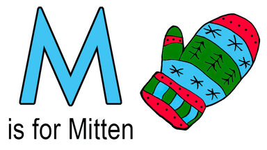 m words for kids mitten example