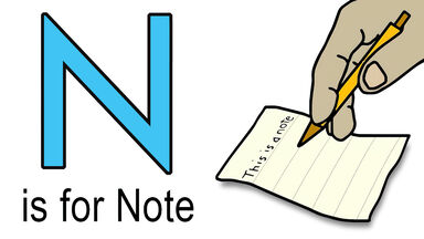 N words for kids example of note
