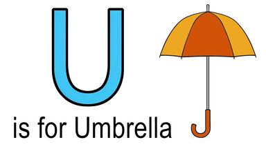 u words for kids example of umbrella