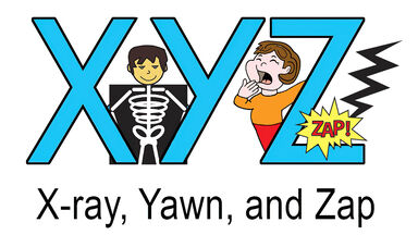 x y z words for kids example of x-ray yawn zap